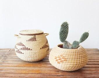 vintage southwest baskets, set of 2