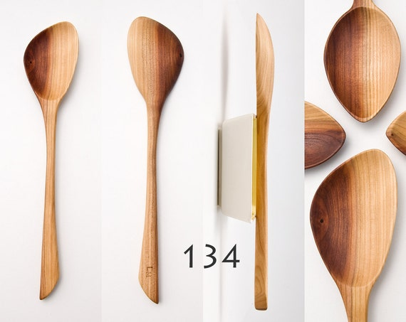 Wooden Spoons Hand Carved From Plum Wood / Kitchen Utensils / Large Cooking  Spoon / OOAK 133 136