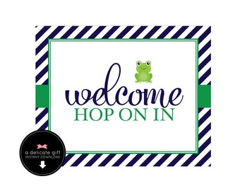 Frog Birthday- Welcome Sign