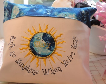 Ain't no sunshine when you're gone, sun personalized pillow, gift for goodbye, moving gift, coworker gift, retirement gift