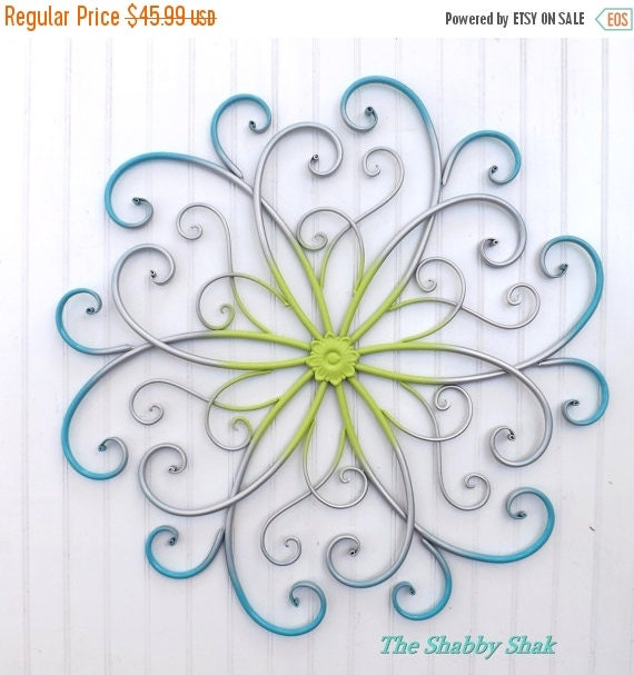 On Sale Large Metal Wall Art / Bedroom Wall Decor By