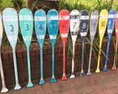 Oar Paddle Sign Numbers Letter Wall Art Nautical Beach House Lake Cottage Decor By CastawaysHall