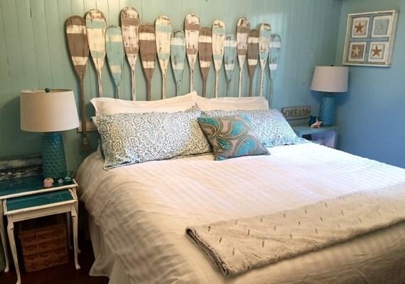 Oar Paddle Headboard King Size Beach House Style By