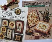 Sudberry Sunflowers Cricket Collection Sunflowers Cross Stitch Patterns Design Leaflet 59 No 118 Pillow Box Tray Pincushion Cross Stitching