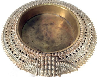 Brass African Anklet Ashtray