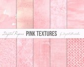 Pink digital papers Textured digital paper Pink backgrounds pink textures Textured paper Pink watercolor digital paper