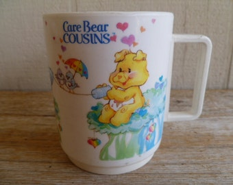 Collectable Care Bear Cousins Cup American Greetings 1985 RARE