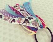 Happy Birthday Minnie Mouse Ponytail Holder: Heart Hair Bow + Ponytail Ribbon + Elastic Hair Tie + Disney Scrunchie + Ribbon Hair Streamer