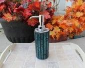Soap dispenser, mosaic soap dispenser, mosaic lotion dispenser, mosaic dispenser, art glass mosaic, glass mosaic soap/lotion dispenser