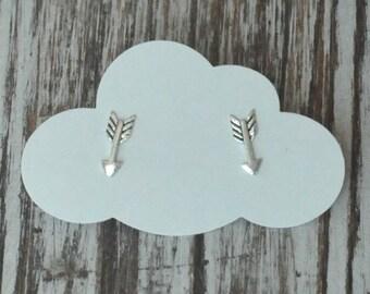 Arrow Earrings, Sterling Silver Stud Earrings, Birthday Gift, Bridesmaid Gift, Children's Gift
