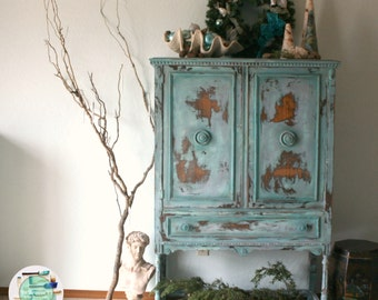 SOLD French Country Antique Cabinet / Hutch