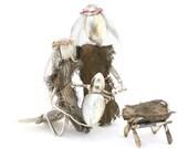 Large Nativty Set, Handcrafted,16 Pieces, Nativity scene, Manger scene, unique nativity christian gift, baby jesus, Mary, Joseph, 3 wise men