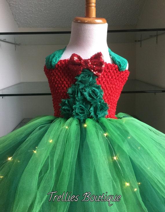 Christmas Tree Tutu Dress Christmas Tree Light Up Tutu Dress