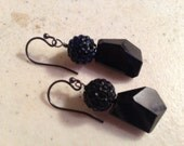 Black Earrings - Crystal Jewelry - Onyx Jewellery - Fashion - Trendy - Style - Luxe