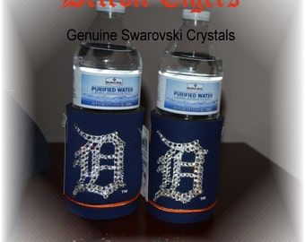 One Detroit Tigers Baseball Foam Drink Insulator with Genuine Swarovski Crystals - Ball Cap Not Included! - READY TO SHIP!