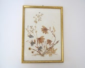 Vintage botanical wall decor/ dried flowers/ pressed flowers/ nature