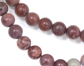 CLEARANCE. Crazy Horse Stone (Mostly Mauve) Beads - 6mm Round - Full Strand