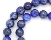 Denim Lapis Lazuli Beads - 6mm Round