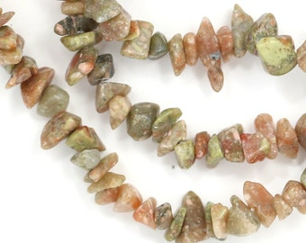 CLEARANCE Autumn Jasper Beads - Small Chips - Full Strand