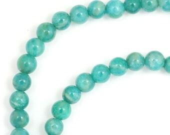Russian Amazonite Beads - 4mm Round - Half Strand
