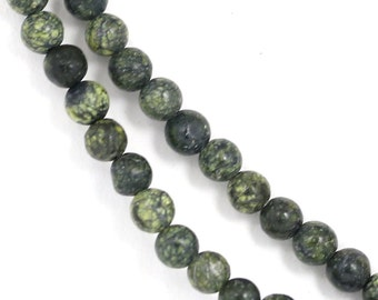CLEARANCE. Russian Serpentine (Lighter) Beads - 4mm Round - Full Strand