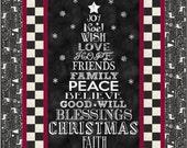 Chalkboard Christmas Lap Quilt ePattern, 4911-1, christmas tree quilt, lap quilt pattern, panel quilt pattern digital download