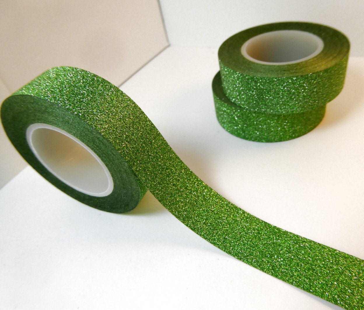 Glitter washi tape in green paper tape great for scrapbooking glitter washi tape in green paper tape great for scrapbooking paper crafts and decorations for st patricks day and christmas jeuxipadfo Images