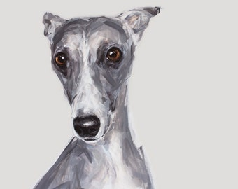 Whippet Art - Ltd. Edition dog print from a Whippet Painting