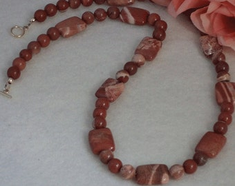 Cappuccino Jasper Gemstone Necklace    FREE SHIPPING