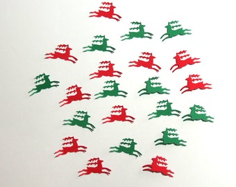 Die Cut Reindeer Christmas Embellishment Holiday 20 Pieces