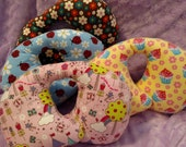 Travel Pillow - Small/Toddler - Car Seat Neck Support - Limited Quantity - Flowers & Bugs - Clearance