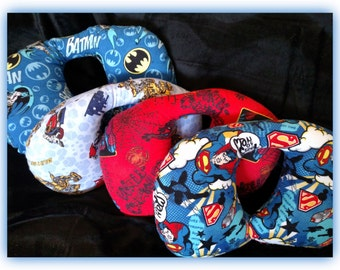 Travel Pillow - Car Seat Neck Support - Infant to Adult Sizes - Superheros