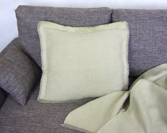 Decorative linen pillow -Fresh- throw pillow,cushion cover, linen home decor, Eco-friendly natural linen,