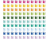Printable Planner Stickers - Rainbow Gas Pump Gasoline Stickers - Planner Labels - Fits Erin Condren, The Happy Planner, Filofax and more!