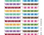 Monthly Planner Stickers - Rainbow Weekend Banner Sampler Stickers - Planner Labels - Fits Erin Condren Life Planner - MP4883503149726