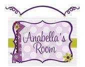 Personalized (Hopscotch Jungle/Girl Giraffe/Dots/Chevron) Wood Door Sign/Plaque Nursery Decor/Baby/Kids/Teacher So Cute!