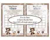"""SAVE 50 Percent!! 5 Printable """"B is for Bear"""" Game Bundle Pack 5 PDF Instant Digital Downloads included in One Price!"""