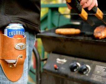 Texas Longhorn Beer Holster
