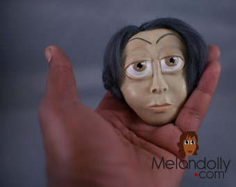 Agnes a Paperclay Melandolly Wall Mask Ornament