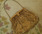 Vintage Whiting And Davis Evening Bag ... Gold Tone