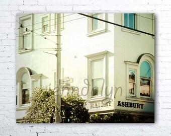 haight ashbury street signs - san francisco california wall art - haight ashbury print