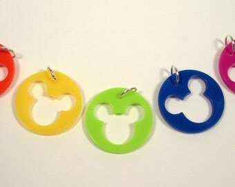 Mickey Mouse Pendant , Mickey Mouse Keychain, Upcycled Jewelry, Uncycled Necklace, Disney Mickey Mouse,