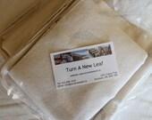 SALE Organic Burp cloths and Wash cloths Set