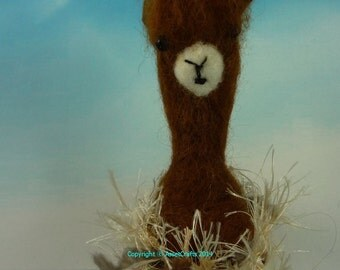 Alpaca, Brown Alpaca, Alpaca collectable, Alpaca needle felted, OOAK Alpaca, Assetcrafts, Alpaca Merchandise, Alpaca ornament, Alpaca lover