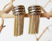 Art Deco Clip On Earrings Fringe Vintage 1934 Patent