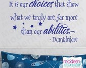DUMBLEDORE Quote Harry Potter Vinyl Wall Decal CHOICES