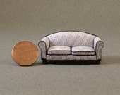 Quarter Inch Scale Furniture - Overstuffed Style Sofa