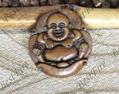 Charm Carving Buddha Jade Pendant Beads,gemstone pendant Carved Chinese dragon Jade Pendant