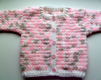 Pink Blossom BabySweater, Size 9 to 12 Month