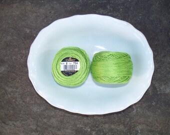DMC Perle Cotton 8 Greens